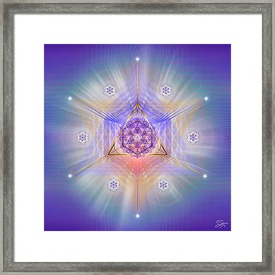 Framed Print featuring the digital art Sacred Geometry 734 by Endre Balogh