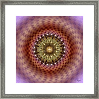 Framed Print featuring the digital art Sacred Geometry 735 by Endre Balogh