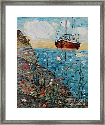 Framed Print featuring the painting Safe Harbor by Maria Langgle