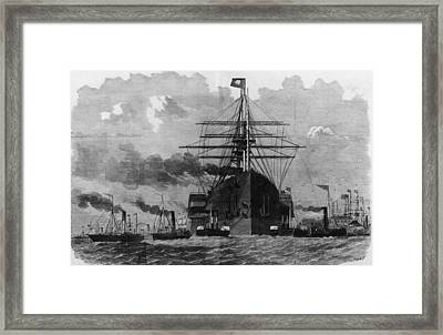 Sail And Steam Framed Print by Hulton Archive