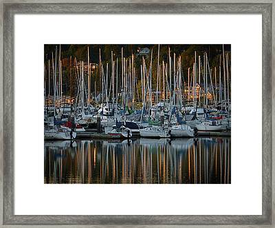 Sailboat Reflections Framed Print