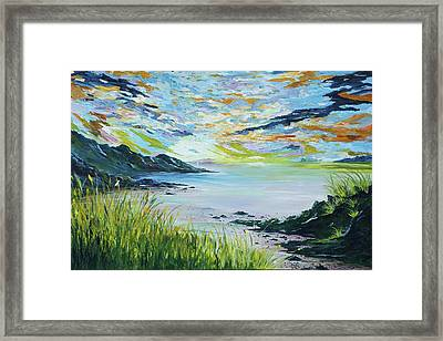 Sailing By Lovers Cove Kinsale Framed Print