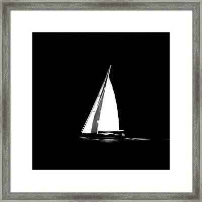 Sailing In The Night Framed Print