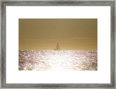 Framed Print featuring the photograph Sailing On Sunshine by Robert Banach