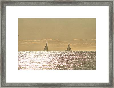 Framed Print featuring the photograph Sailing On The Horizon by Robert Banach
