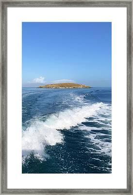 Sailing To Delos Framed Print