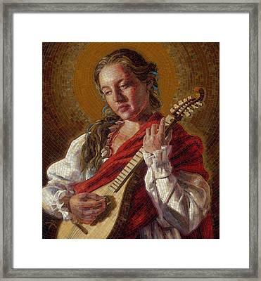 Saint Cecelia Mosaic Framed Print