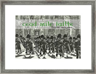 Saint Patricks Day Quote Framed Print