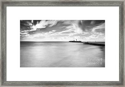 Framed Print featuring the photograph Saint Sebastian Castle Long Exposure Cadiz Spain by Pablo Avanzini