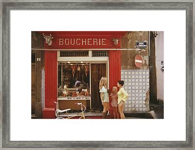 Saint-tropez Boucherie Framed Print