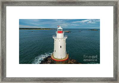 Framed Print featuring the photograph Sakonnet Light  by Michael Hughes