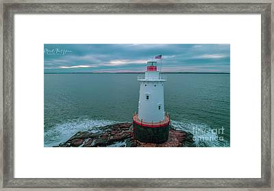 Framed Print featuring the photograph Sakonnet Lighthouse by Michael Hughes