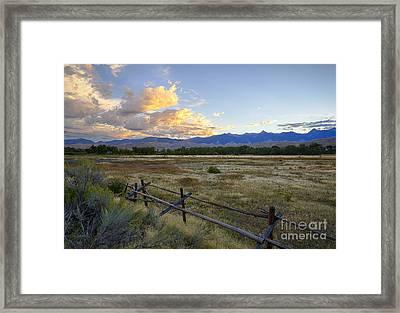 Salmon Valley Dawn Framed Print