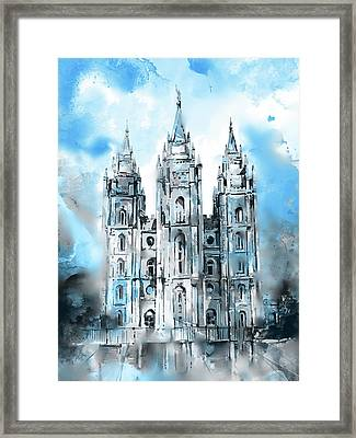 Salt Lake City Temple 6 Framed Print