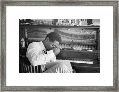 Sam Cooke At The Piano Framed Print