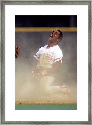 San Francisco Giants V Cincinnati Reds Framed Print by Ronald C. Modra/sports Imagery