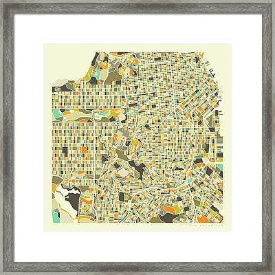 San Francisco Map 1 Framed Print