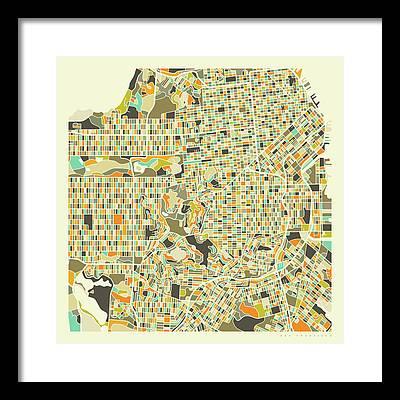 City Map Framed Prints