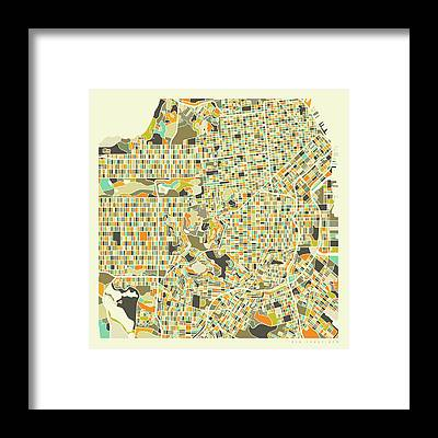 City Map Framed Prints