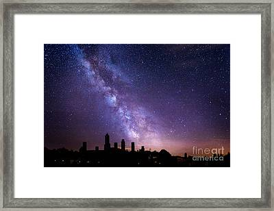 Framed Print featuring the photograph San Gimignano Stars by Scott Kemper