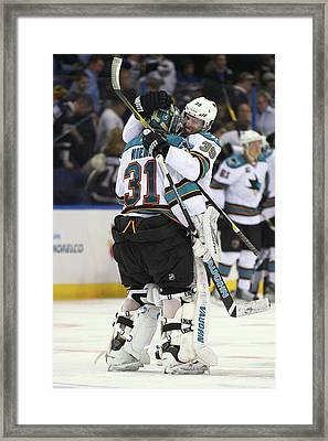 San Jose Sharks V St. Louis Blues - Framed Print
