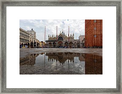 San Marco Cathedral Venice Italy Framed Print