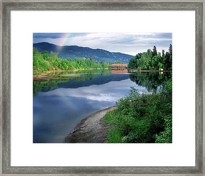 Framed Print featuring the photograph Sandpoint Idaho by Leland D Howard