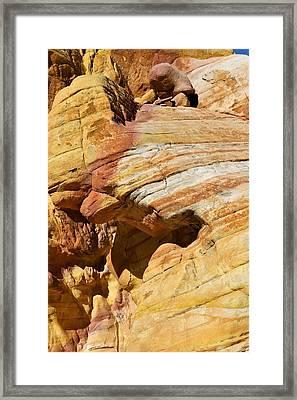 Sandstone Outcrops Framed Print