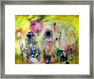 Framed Print featuring the painting Sanguine by 'REA' Gallery