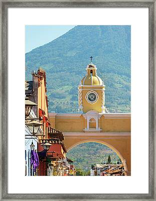 Framed Print featuring the photograph Santa Catalina Arch Antigua Guatemala by Tim Hester