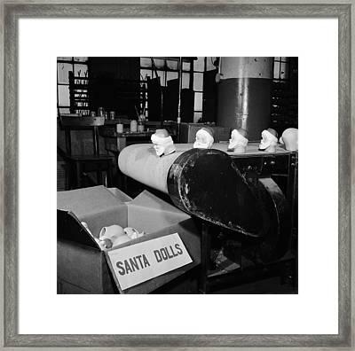 Santa Heads Framed Print by Al Barry