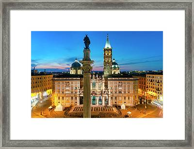 Framed Print featuring the photograph Santa Maria Maggiore by Fabrizio Troiani