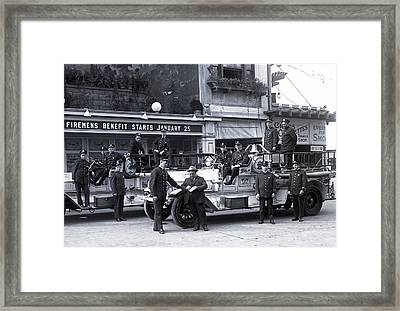 Santa Monica Firemen 1920 Framed Print