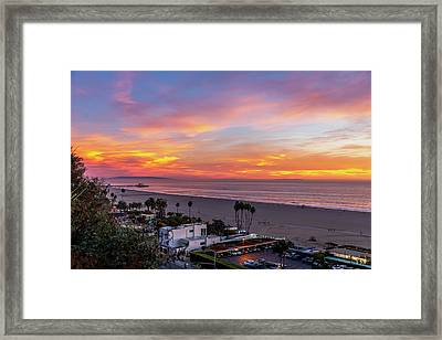 Santa Monica Pier Sunset - 11.1.18  Framed Print