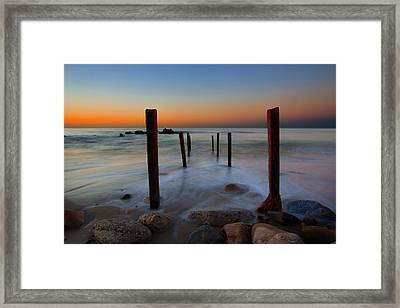 Santa Monica Sunrise Framed Print
