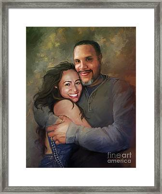 Sara And Ahmed Framed Print