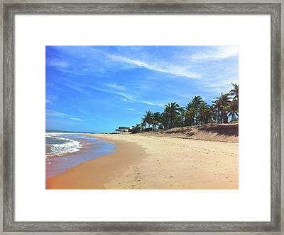 Sauipe Beach - Boxing Day Framed Print by Adrian R Walmsley