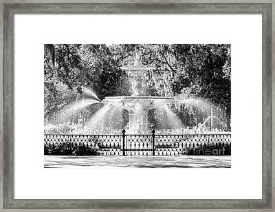 Savannah Forsyth Park Fountain Framed Print