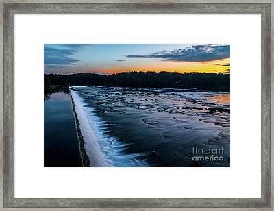 Savannah Rapids Sunrise - Augusta Ga Framed Print