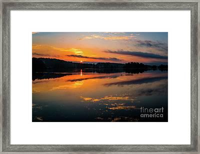 Savannah River Sunrise - Augusta Ga 2 Framed Print