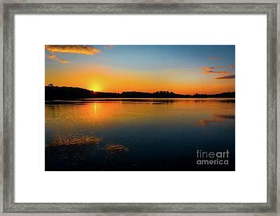 Savannah River Sunrise - Augusta Ga Framed Print