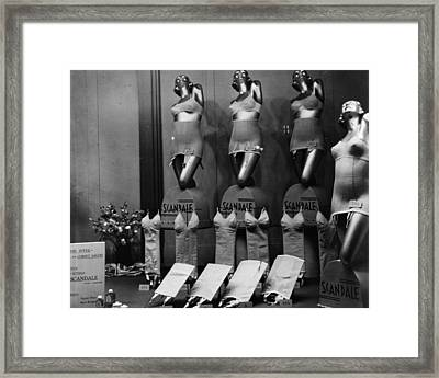 Scandale Corsets Framed Print by Hulton Archive
