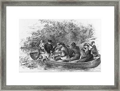 Scene From Longfellows Evangeline Framed Print by Kean Collection