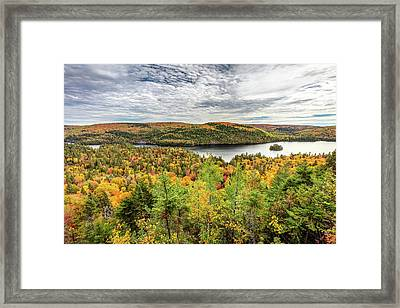 Framed Print featuring the photograph Scenic Autumn Landscape by Pierre Leclerc Photography