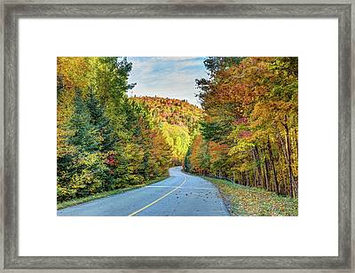 Framed Print featuring the photograph Scenic Drive In Autumn by Pierre Leclerc Photography
