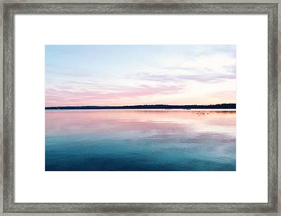 Scenic View Of Calm Sea Against Cloudy Framed Print by Thomas Weng / Eyeem