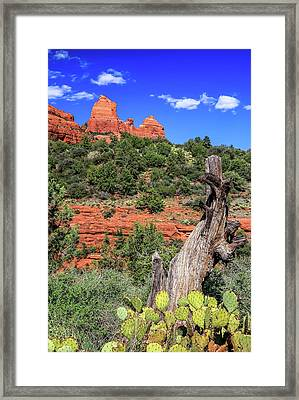 Schnebly Hill View, Sedona Framed Print