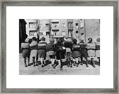 School Children Framed Print by Topical Press Agency