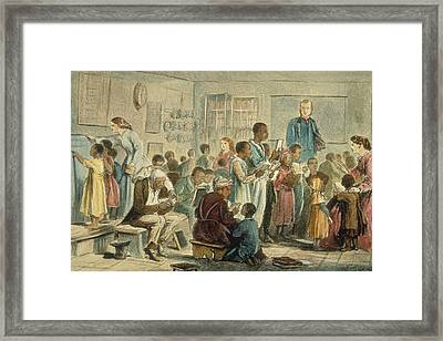 School For Slaves Framed Print by Fotosearch