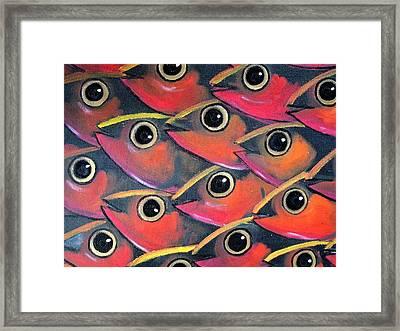 School Of Eyes Framed Print